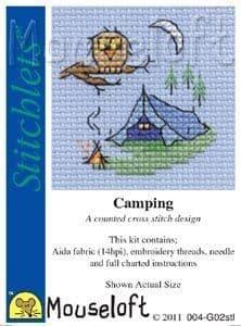 Mouseloft Camping Stitchlets cross stitch kit